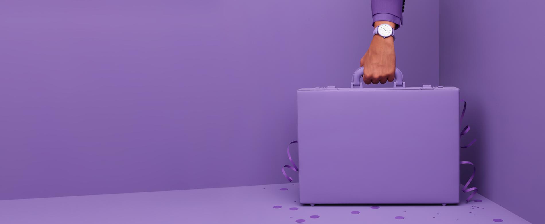 suitcase purple